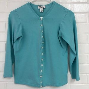 Lilly Pulitzer xs teal cardigan